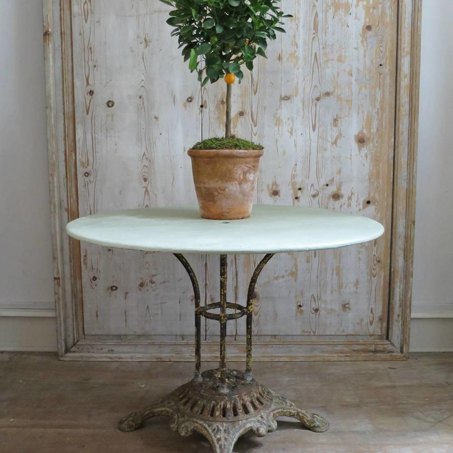 French 19th century Round iron Garden Table