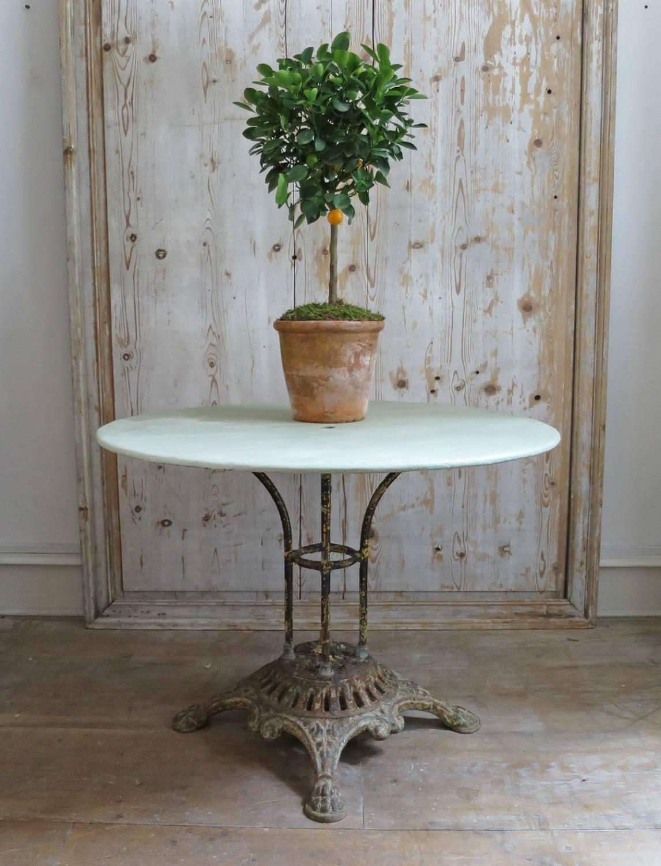 French 19th century Round iron Garden Table