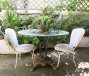 French 19th century Round iron Garden Table - picture 3