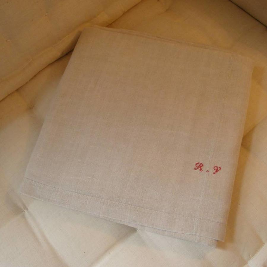 Old French linen sheet