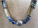 Blue Beaded Necklace - picture 1