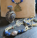 Blue Beaded Necklace - picture 4
