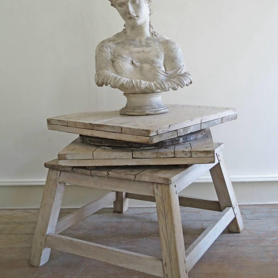 Large 19th c French Sculptor`s Stand