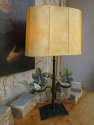 Wrought Iron French Table Lamp with Jars - picture 4