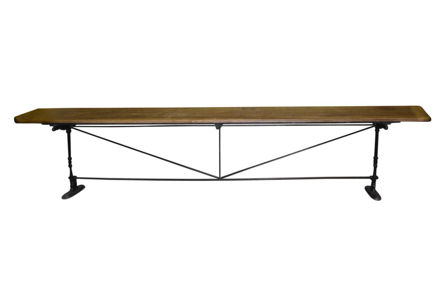 Long , narrow Spanish Table with Iron Base
