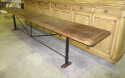 Long , narrow Spanish Table with Iron Base - picture 4