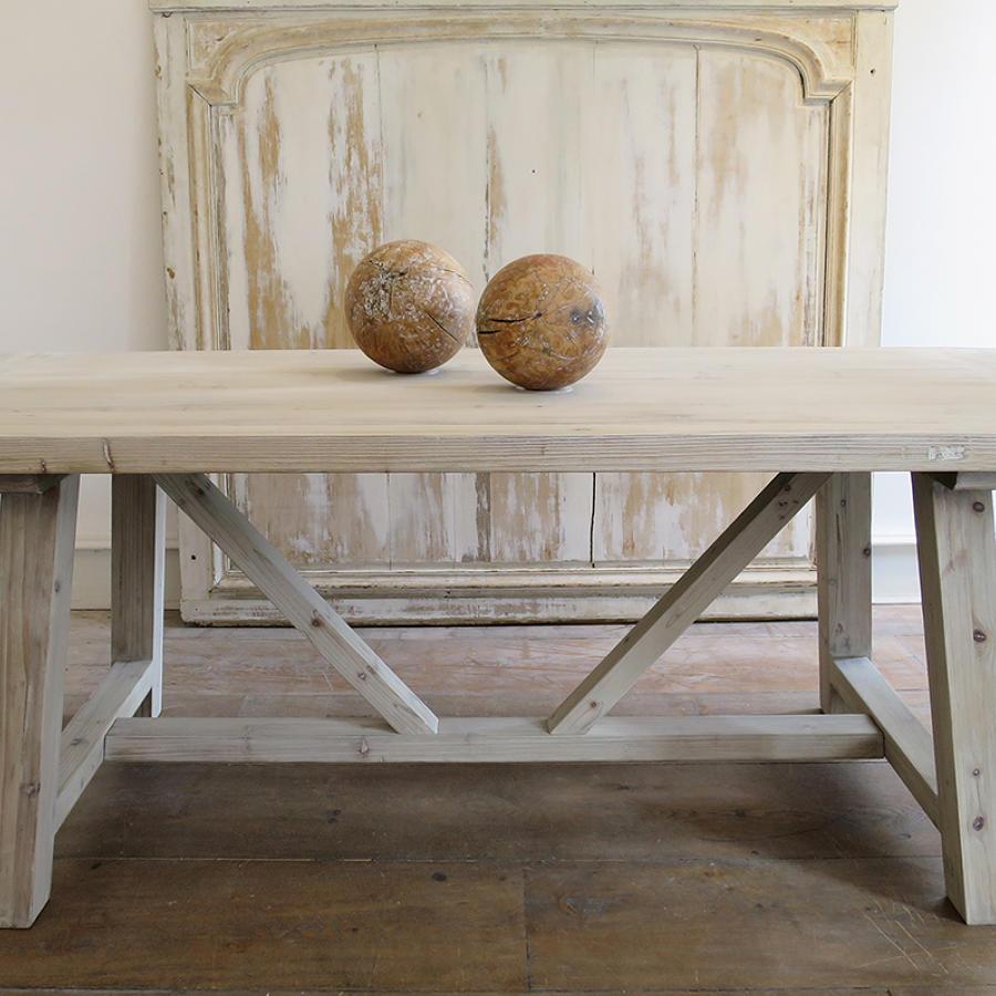 Swedish Large Pine Trestle Table
