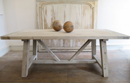 Swedish Large Pine Trestle Table
