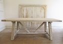 Swedish Large Pine Trestle Table - picture 2