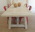 Swedish Large Pine Trestle Table - picture 6