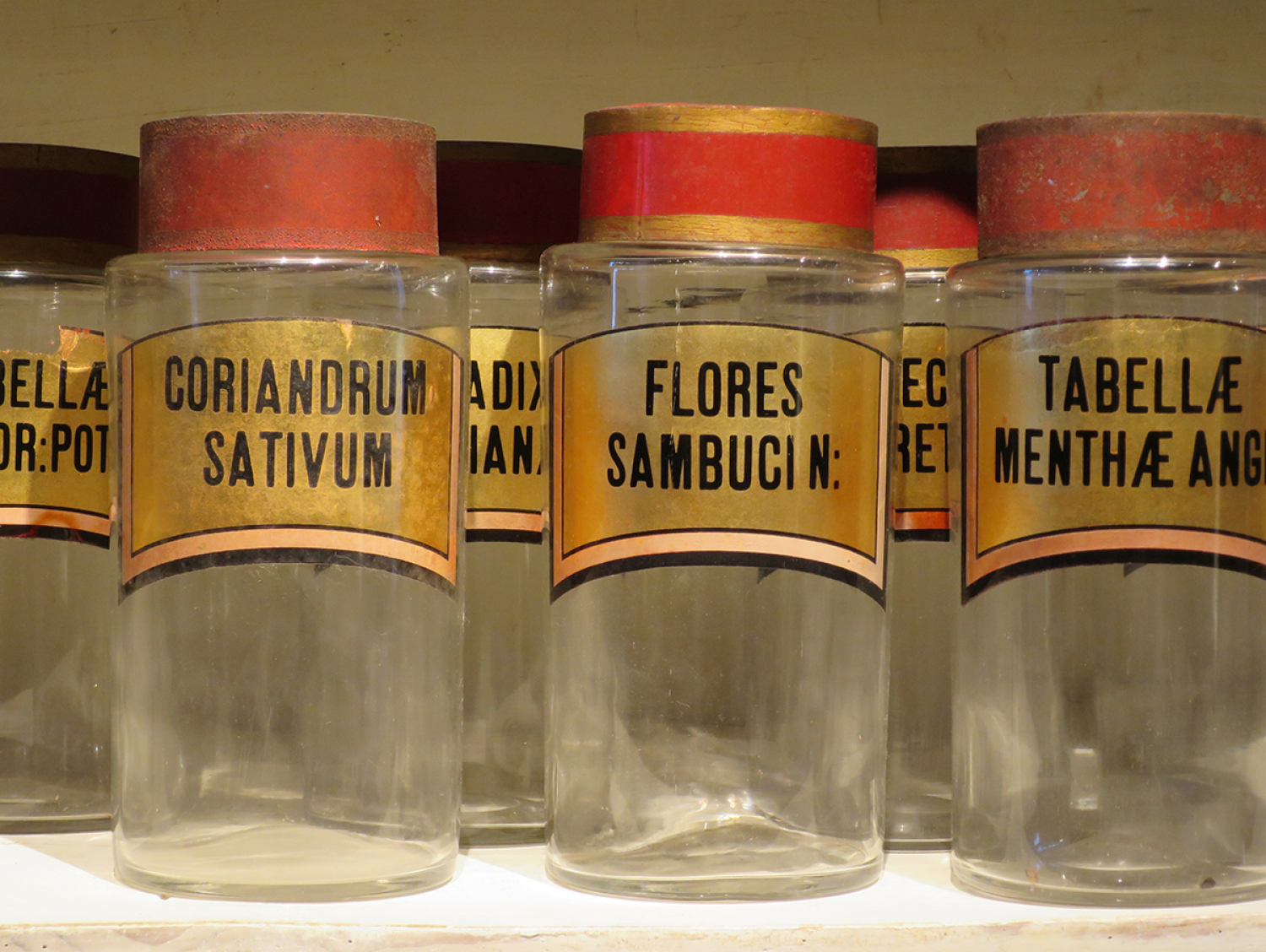 Set of 9 19th c  Pharmacy Jars