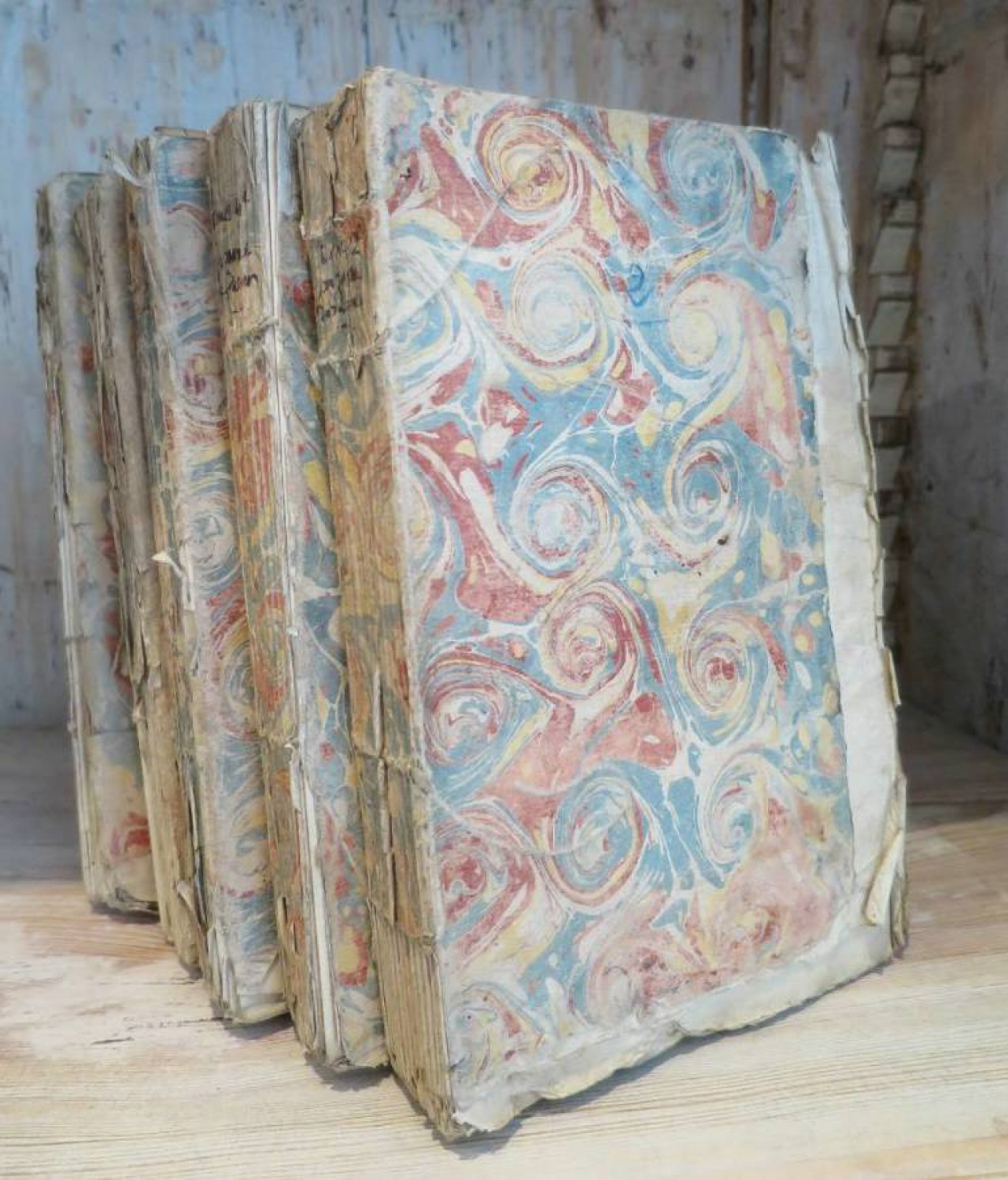 Set of 5 18th c French Books