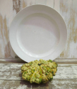 Huge French White Round Serving Platter - picture 1