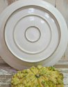 Huge French White Round Serving Platter - picture 2