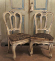 Rare Pair of 18th century Venetian Chairs - picture 1