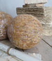 Pair of old wooden Balls - picture 1