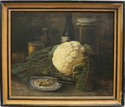 Still Life Painting of Cauliflower