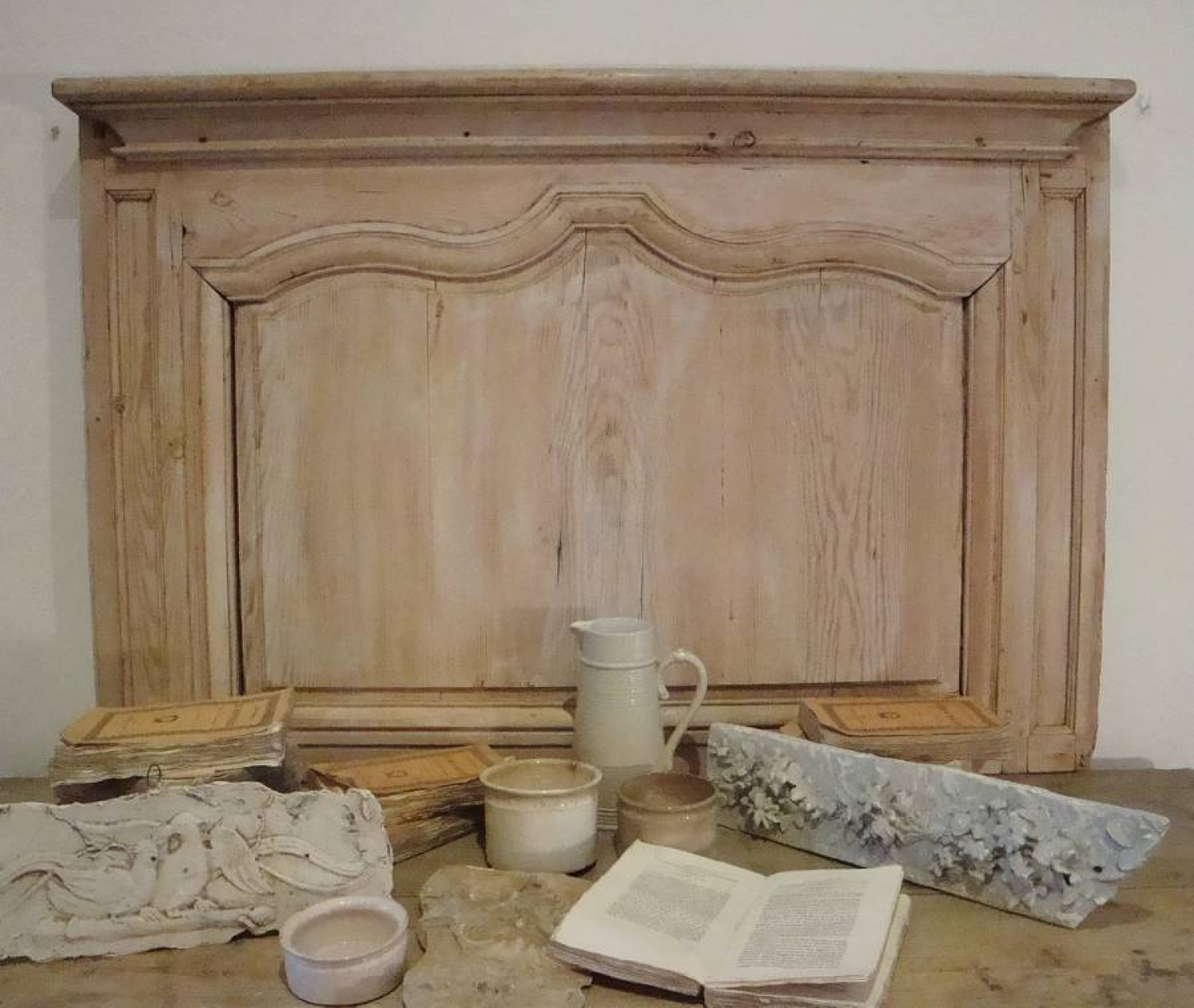 French 18th century Antique Pine Panel