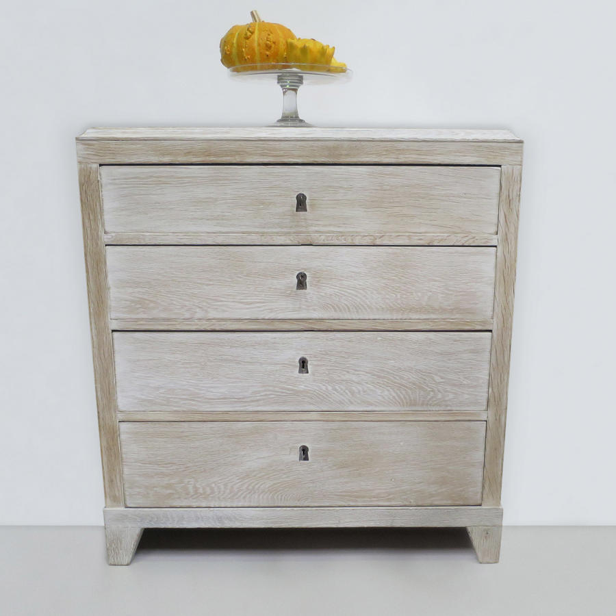 Swedish 19th c Oak Chest of Drawers