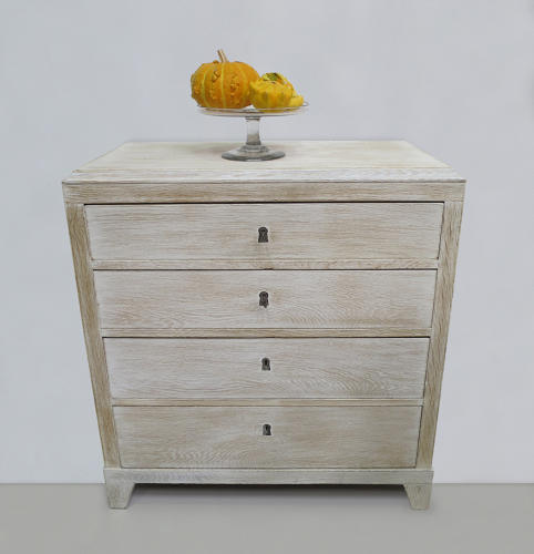 Swedish 19th c Oak Chest of Drawers