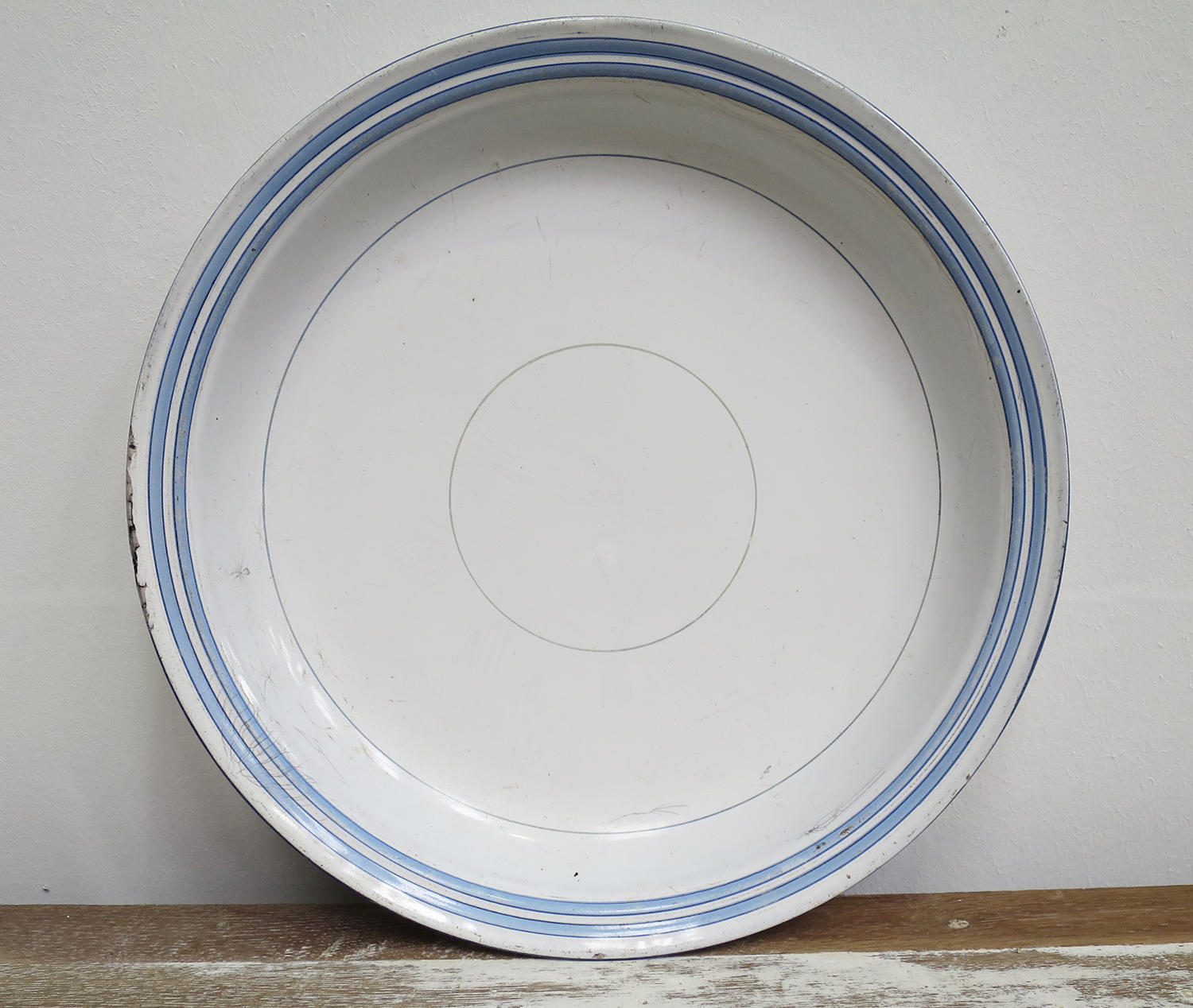 French Enamel Round Tray