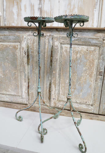 Pair of 19th century French Iron Candle Holders