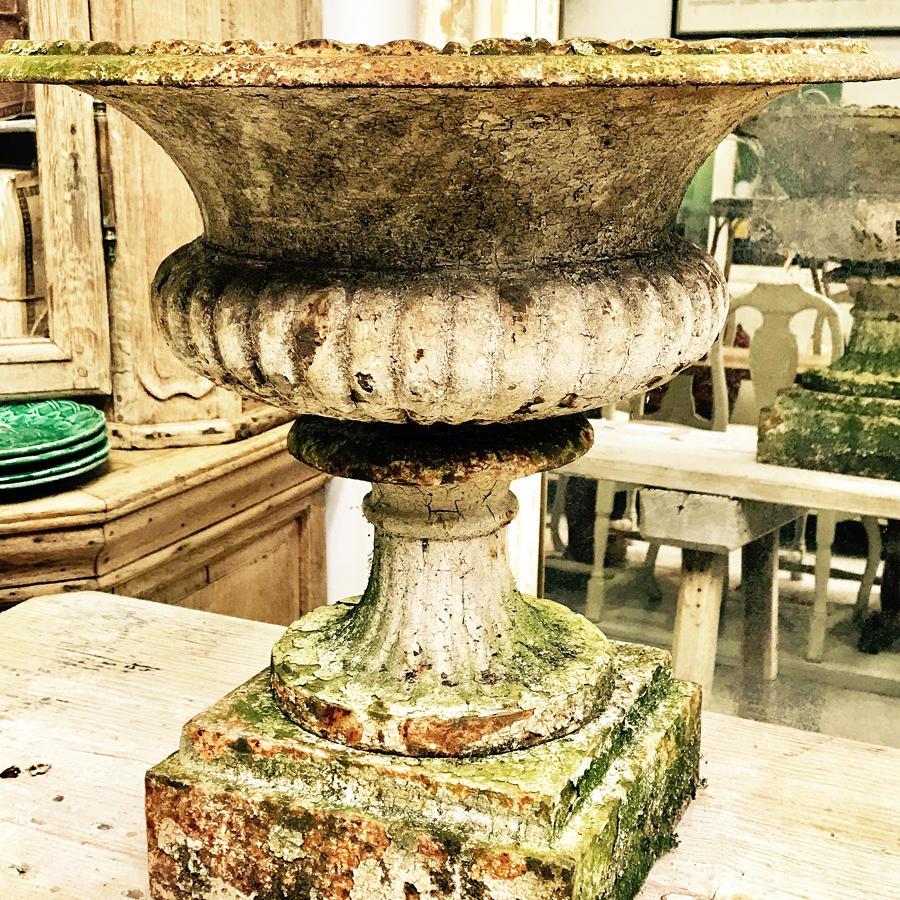 Pair of 19th century Cast Iron antique urns