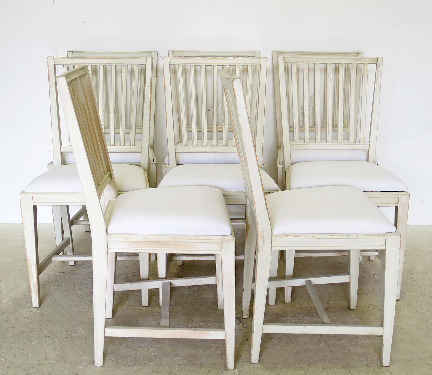 ... Set Of 8 Gustavian Style Slat Back Chairs   Picture 3 ...