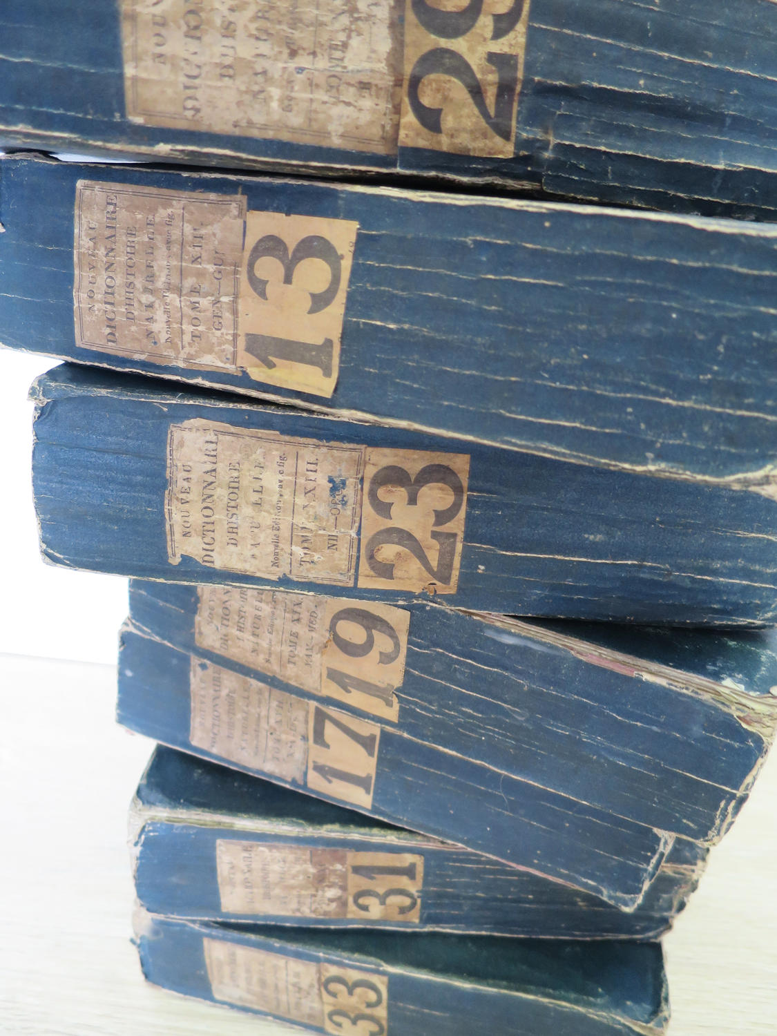 Set of 7 thick French Black Books Printed 1819