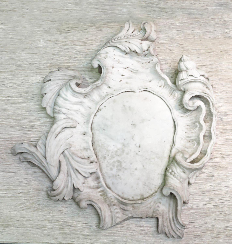 Rare 18th c Italian Rococo marble Cartouche