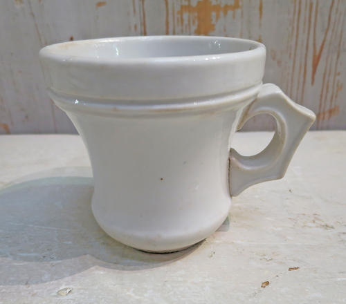 19th c Large French White Porcelaine Mug circa 1880