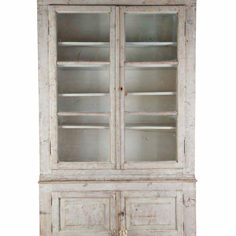 19th c French Painted Bookcase