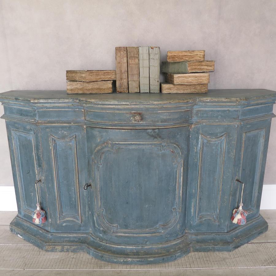 18th c Italian Buffet with orignal blue paint circa 1750