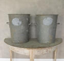 Vintage Zinc Flour Tubs - picture 1