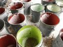 Vintage Zinc Flour Tubs - picture 5