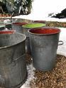 Vintage Zinc Flour Tubs - picture 7
