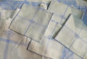 Blue & white large Tablecloth & 10 napkins - picture 2