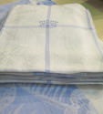 Blue & white large Tablecloth & 10 napkins - picture 3