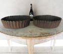 2 Giant French Quiche Pans 20th c - picture 2