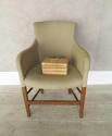 Single 19th c French Chair clad in old linen - picture 1