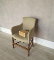 Single 19th c French Chair clad in old linen - picture 2