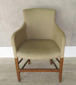Single 19th c French Chair clad in old linen - picture 3
