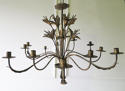 French early 20th c decorative 'Tole' Chandelier circa 1910 - picture 1