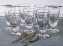 Collection French Absinthe or Wine Glasses circa 1900 - picture 1