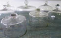 Collection of 19th c French Glass Cheese Bells - picture 1