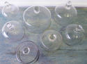 Collection of 19th c French Glass Cheese Bells - picture 2