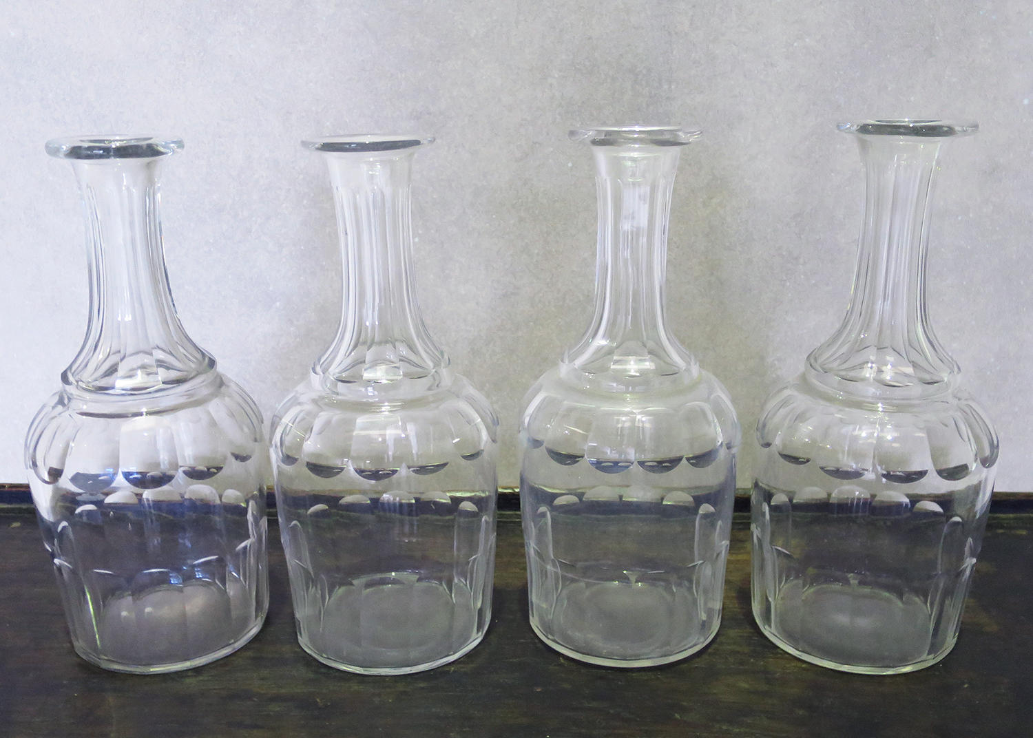 19th century French glass Decanters - Circa 1890