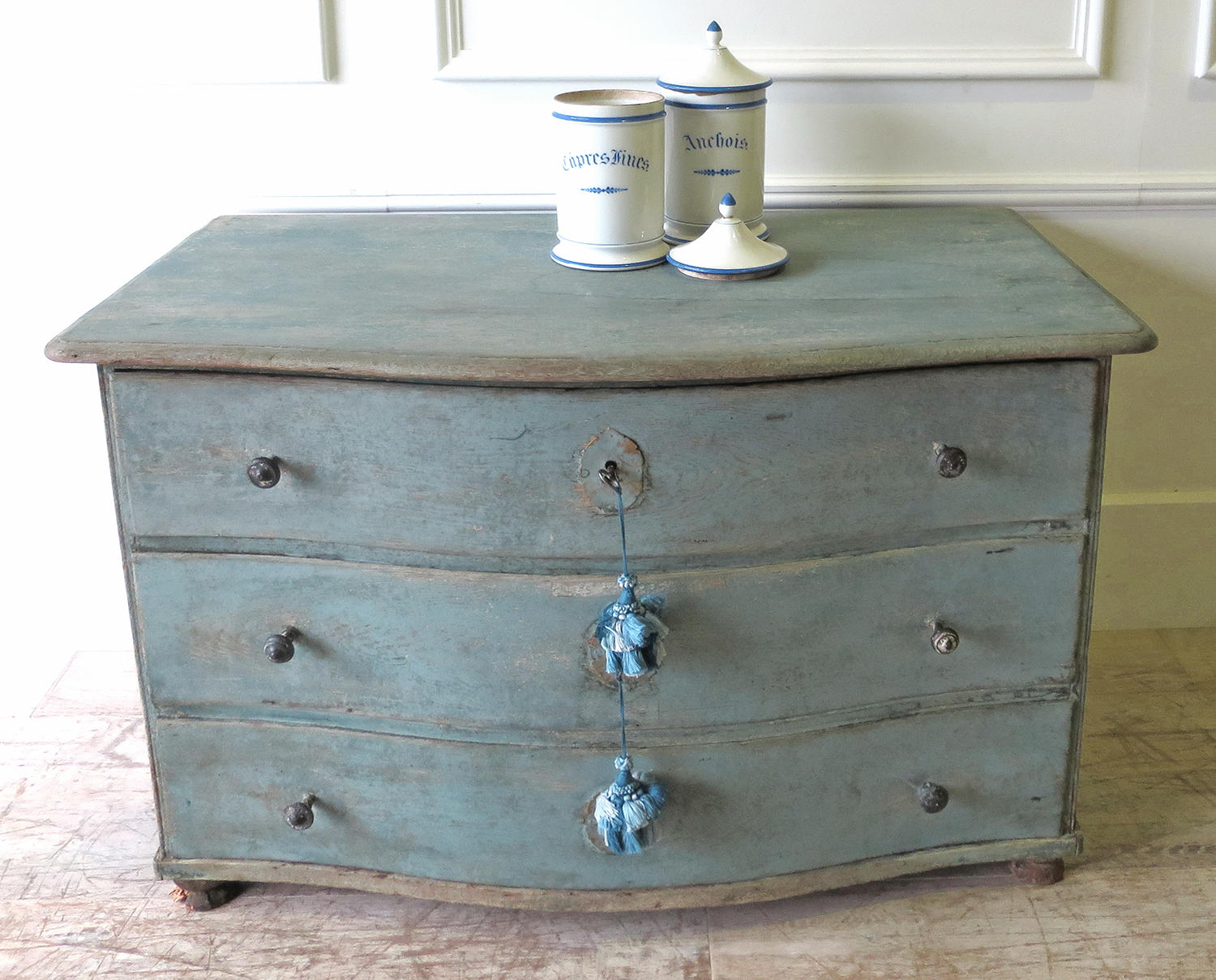 Early 19th C French Blue Commode Circa 1820 In Antique Furniture