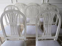 Set of 8 Swedish Dining Chairs with WheatSheath backs c. 1950 - picture 3