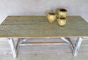 19th century Italian pine TrestleTable with remains of Original Paint - picture 2